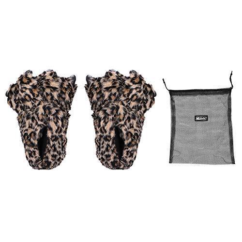 Hausschuhe Unisex Winter Pantoffeln Bär weich für Frauen Männer Plüschhausschuh warm Kuschelige Winterhausschuhe leicht Home Indoor Filzpantoffeln lustig Anti-Skid Tierhausschuhe mit Schuhbeutel