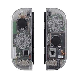 eXtremeRate Gehäuse für Nintendo Switch Joycon,Hülle Case Griffe Ersatzteile mit komplettem Tasten-Set für Nintendo Switch Joycon[Console Case Nicht enthalten](Orange)