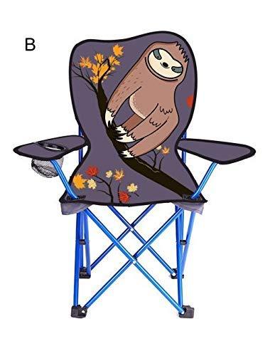 Olyee Kinder Faltbar Rasen und Camping Stuhl, Einhorn Tragbar Sitz Stecker Stuhl mit Netz Becher Halter, Faltbar Gartenstuhl Strand Stuhl