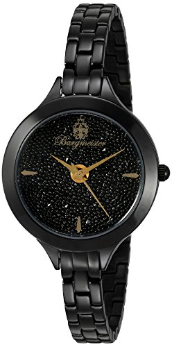 Burgmeister Women's Quartz Watch with Black Dial Analogue Display and Black Stainless Steel Bracelet BM536-626