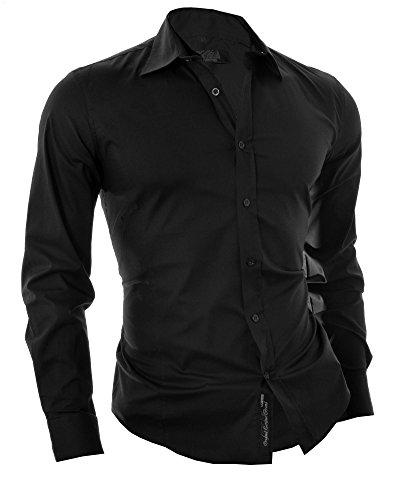 D&R Fashion hombres la manera Camisa italiana dise?o inteligente con Universal Cut