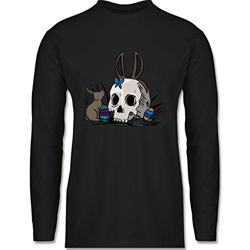 Ostern - Totenschädel Ostern - Longsleeve / langärmeliges T-Shirt für Herren Schwarz