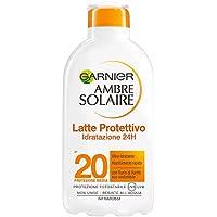 Garnier Ambre Solaire Crema Solare, Latte Protettivo Ultra-Idratante con Burro di Karitè, Protezione Media IP20, 200 ml