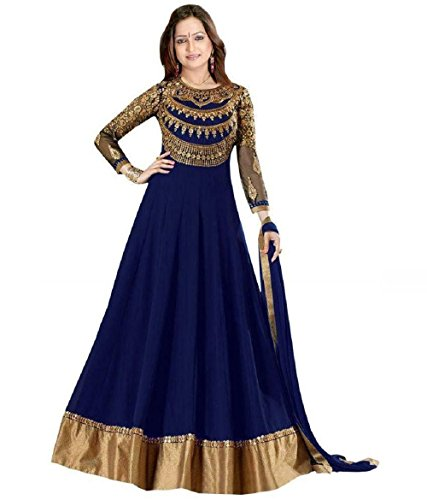 Suits for Women Indo-Western Red Party Wedding Wear Floor Length Gown/ Anarkali...