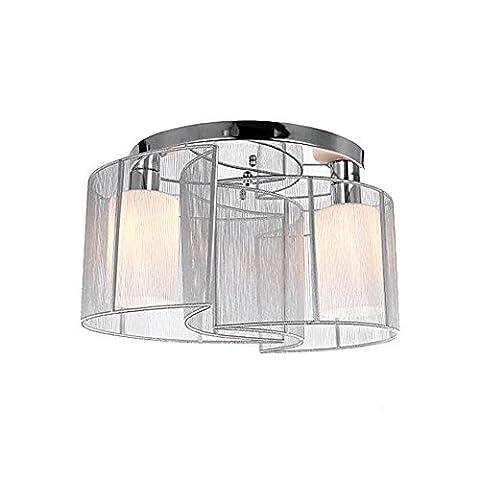 Luminaire de plafond de 2 design moderne Plafonniers simples à encastrer blancs plafonnés avec éclairage lampe brossé