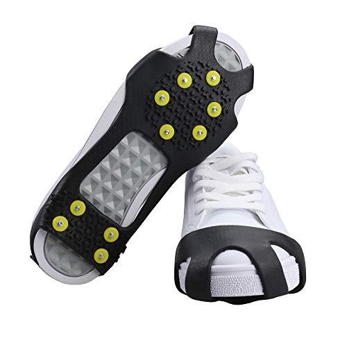 BiBiFly - Crampons antidérapants à 10 Dents - pour Le Ski, la Marche, la Neige, la randonnée, Le Jogging, etc.