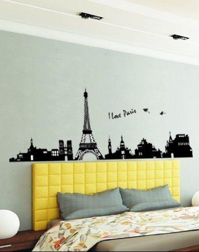 Lookout grande i love paris Torre Eiffel Adesivo per bambini salotto