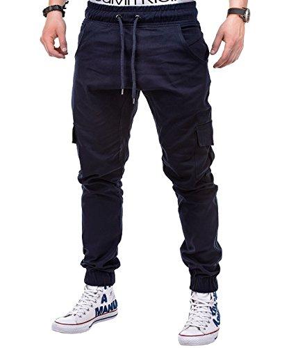 Herren Twill Cargo (BetterStylz MasonBZ Herren Cargo Chino Jogginghose Jogger Hose Pant Slim Fit Cargotaschen Army Style 8 Farben (XS-5XL))