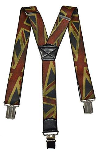 Olata Bretelles entièrement réglable pour tous les âges, Londres Modèles. Grande Bretagne Drapeau (C), Adulte