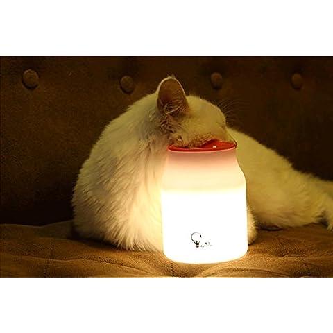 Nuova forma di tazza piccola luce notte LED, lampada da camera da letto comodino studio creativo lampade (1W) ,