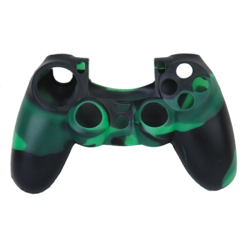 Imported Camo Silicone Protective Skin Case Cover for Sony PlayStation 4 PS4 Controller - Green-black  available at amazon for Rs.190