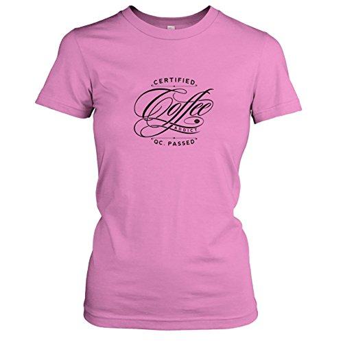 TEXLAB - Certified Coffee Addict - Damen T-Shirt Rosa