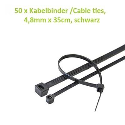Kabelbinder Cable Ties 48mm X 35cm Schwarz 50 Stk von Betrona