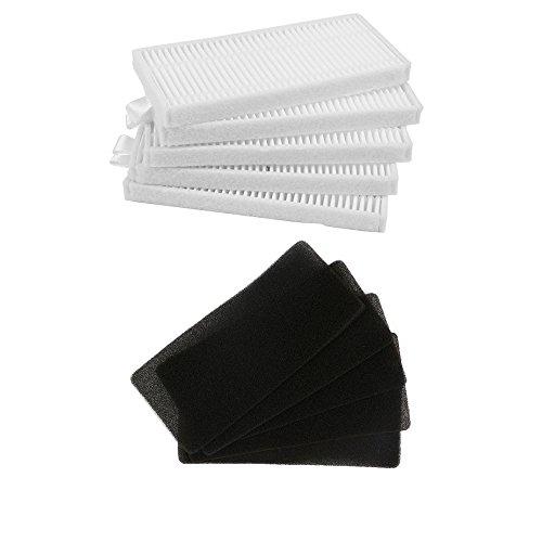 5 filtro HEPA + 5 unids filtro de esponja para CONGA EXCELLENCE Robot Aspirador Partes