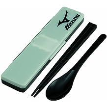 Mizuno Combi set chopsticks 21cm black CCS45SA that does not make sound (Japan import)