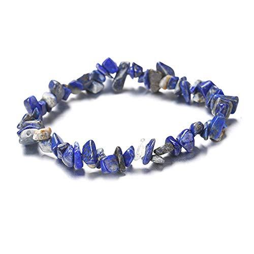 MHOOOA Heilkristalle Perlen Armband Naturstein Chips Turmalin Strang Perlen Armbänder Für Frauen Fashion Party Schmuck (Jade-chip-armband)