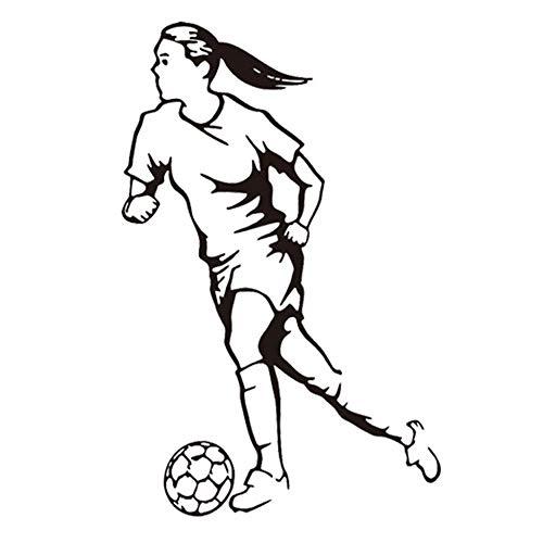Preisvergleich Produktbild Winhappyhome Frauen FußBall Wandaufkleber für Stadion Sportplatz Hintergrund Abnehmbare Dekor Abziehbilder