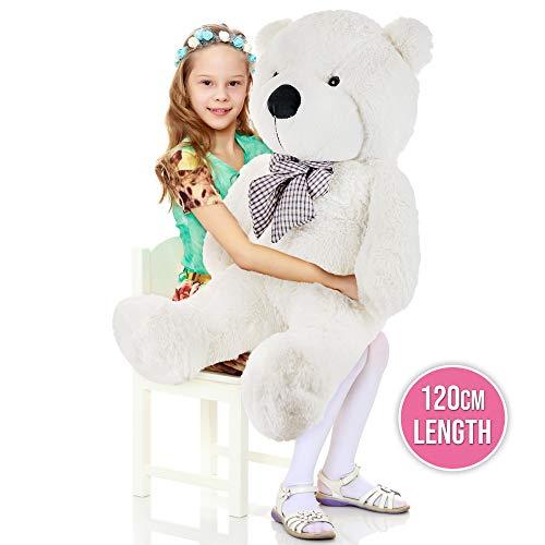 The Twiddlers Riesen sitzender Plüsch Teddybär - 120 cm XXL Giant Teddy Bear - Bezaubernd & Weich Teddy bär - Brillant zum Valentinstag - Geburtstage - Großartig für Freundin - Frau - Für Jung & Alt
