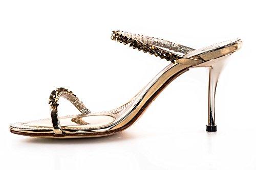 ALBERTO VENTURINI scarpe donna N.35 sandalo gioiello con strass oro X2720