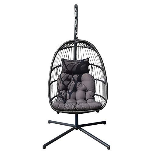 Matthew00Felix Abnehmbare Komfortabler Indoor Outdoor Nordic Terrasse Schaukel hängend Korb-Stuhl -