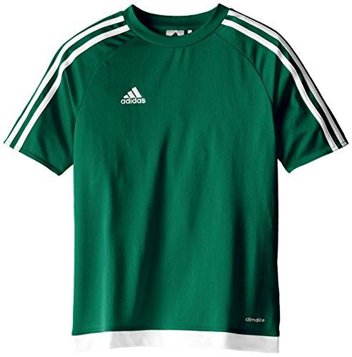 adidas Estro Maglietta di Calcio da Ragazzo Ragazzi Fußballtrikot Estro 15 Collegiate Green/White M