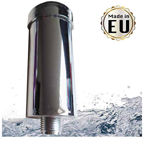 Duschfilter gegen Kalk und Chlor - reduziert Hautirritationen und strohiges Haar, Markenfilter gefertigt in der EU, Kalkfilter für Dusche & Badewanne mit 1/2