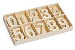 Assortiment de chiffres en bois, 50 pc.