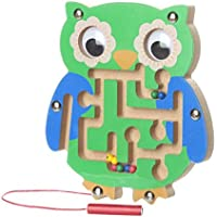 FALAIDUO Kids Magnetic Maze Toys Kids Wooden Game Toy Wooden Intellectual Jigsaw Board Educational Toys Gifts