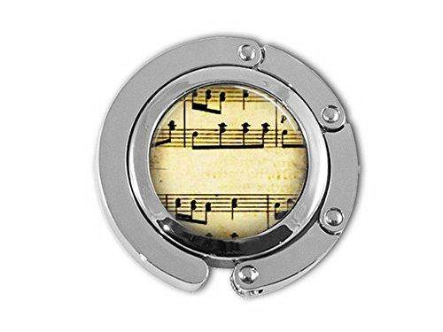 Vintage Tabelle Musik Noten Musiker Geldbörse Haken Geldbörse Kleiderbügel Handtasche Halter Regenschirm - Handtasche Tabelle Aufhänger