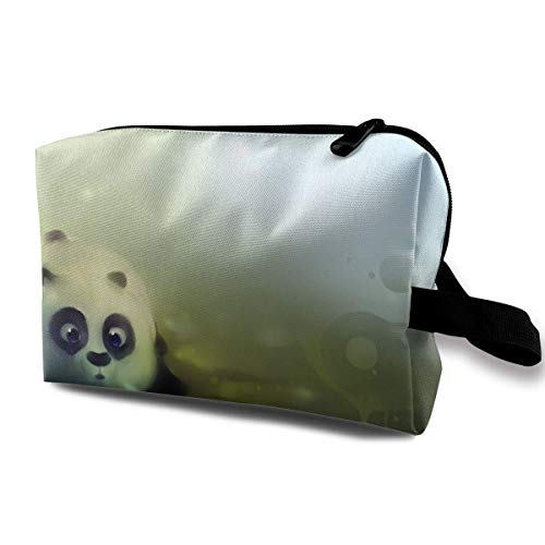 Cute Pan Blowing Bubbles Storage Bag Handbag Make-up Receive Bag -