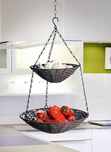 Hängekorb Küche Metall | Obst Hangekorb Ein Obst Hangekorb Hat Besonderen Charme