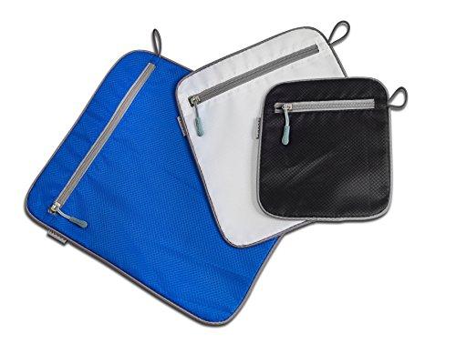 Goods Pack-Set valigetta Organizer per vestiti, piccoli oggetti-2tasche-5pezzi-Multicolore multicolore Set 3: 3 Teile, Schwarz Blau Weiss