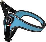 Tre Ponti Geschirr Easy Fit Classic with adj. Belly mit schwarzen Rand hellblau 29 - 33 cm bis ca. 4 kg
