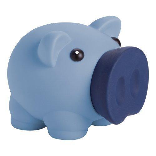 eBuyGB 1274704–Hucha diseño de Cerdo Caja de Dinero para Monedas y Billetes–Banco de Ahorro de los niños (Azul)