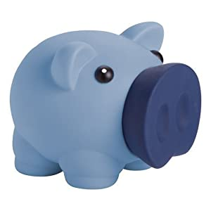 eBuyGB 1274704-Hucha diseño de Cerdo Caja de Dinero para Monedas y Billetes-Banco de Ahorro de los niños (Azul)