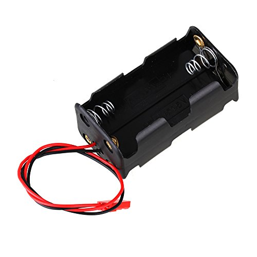 Preisvergleich Produktbild BQLZR AA 1.5V Battery Box 4 Slot Holder Case Black Metal Plastic N10005 fit RC Car