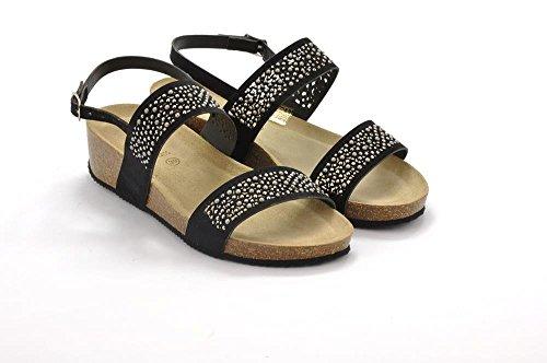 Sandalo Nero Donna Anin S Grunland Sb0880 0xqgAwE