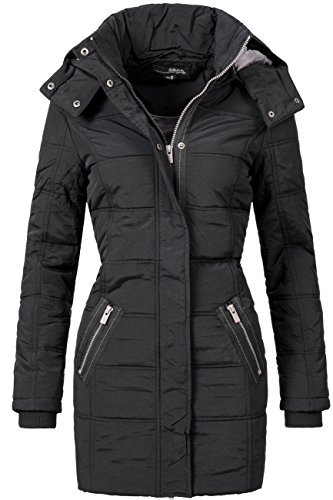 Sublevel Damen Steppmantel Schwarz Gr. M