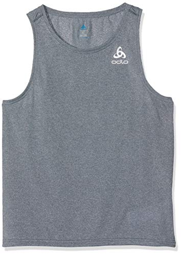 Odlo Herren BL TOP V-Neck Tank Millennium Element Shirt, Dark Slate Melange, L -
