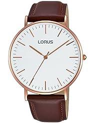 Lorus Hombre Reloj de pulsera analógico cuarzo piel rh880bx9