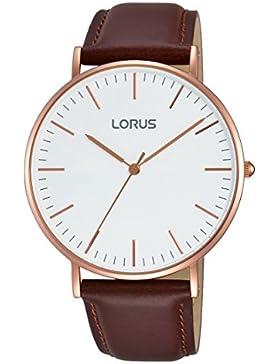 Lorus Watches Damen-Armbanduhr Klassik Analog Quarz Leder RH880BX9