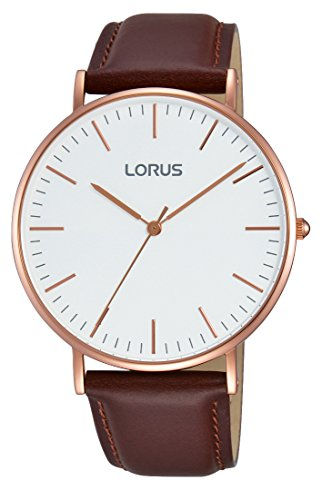 Lorus Men's Analogue Quartz Watch with Leather Strap RH880BX9