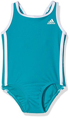adidas Mädchen Badeanzug I 3S 1PC Y, Grün/Weiβ, 140, 4056562799261