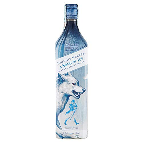 Johnnie Walker Song of Ice - Blended scotch whisky, edizione limitata Game of Thrones, Casa Stark, 70 cl, 40,2%