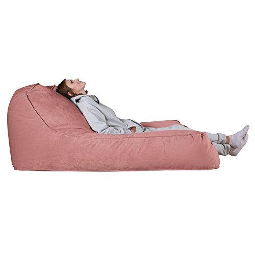 Lounge Pug®, Pouf Chaise Longue (2 Personnes), Velours Rose