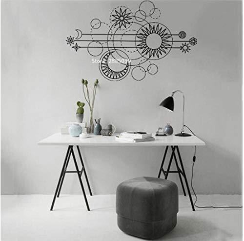 Geometrische Mond Bühne Wandtattoo Kunst Mondphase Design Dekoration Sonne Applique Wandaufkleber Einzigartige Sofa Hintergrund Wandbild