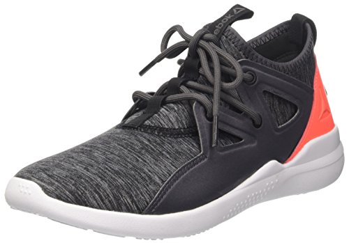 Reebok Cardio Motion, Scarpe Indoor Multisport Donna Grigio (Ash Grey/Vitamin con Black/White)