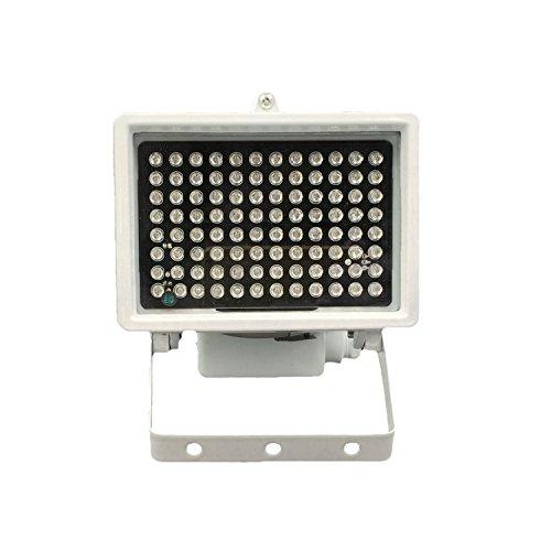 DMetric IR Strahler, 850nm Infrarot 96 LED Nachtsicht Wasserdichte Lampe für Indoor Outdoor Sicherheit CCTV Kamera, Long Range 80m (263Fuß) und Standardwinkel 45 - Ip-kamera-unsichtbare Ir