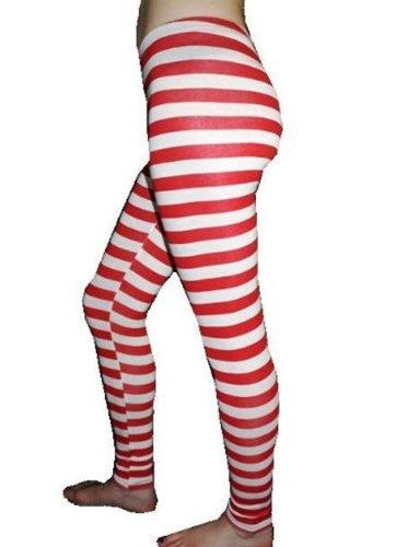 Striped Fancy Dress Leggings ()