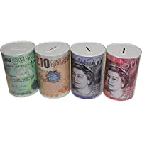 MONEY BOX Tin, Tinplate, Multi-Colour, 6.22 x 4.02 x 3.94 cm